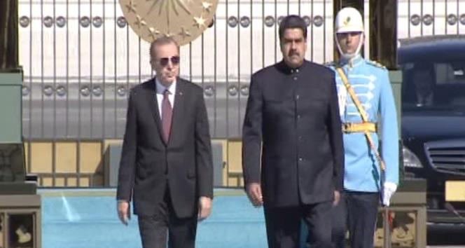Venezuela Devlet Başkanı Maduro Cumhurbaşkanlığı Külliyesinde