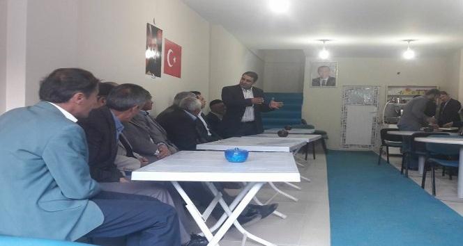 Kaymakam ve Belediye Başkan Vekili Özcan'dan AK Parti teşkilatına iadeyi ziyaret