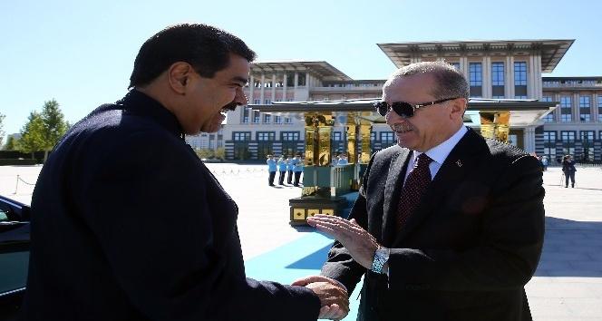 Venezuela Devlet Başkanı Nicolas Maduro Cumhurbaşkanlığı Külliyesinde