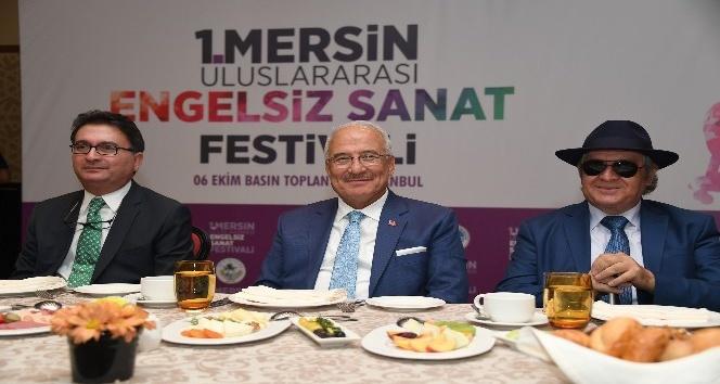 1. Mersin Uluslararası Engelsiz Sanat Festivali İstanbul'da tanıtıldı