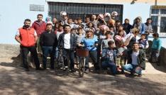 Kırıkkaleli bisikletseverlerden anlamlı destek