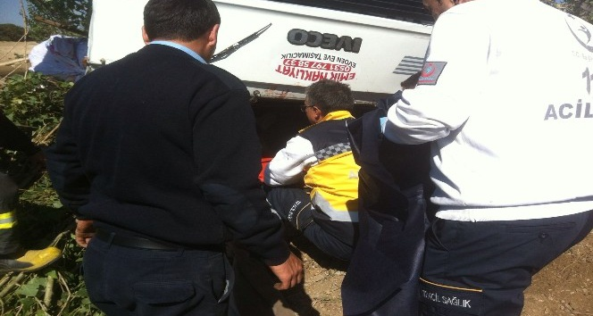 Kamyonetin takla attığı kazada 1 kişi öldü