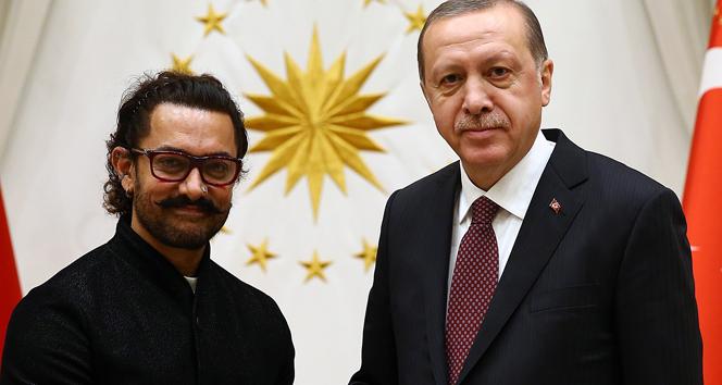 Cumhurbaşkanı Erdoğan, Hindistanlı oyuncu Khan'ı kabul etti