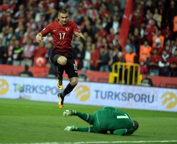 Türkiye İzlanda maçından kareler