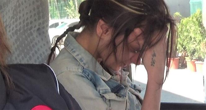 Ağlayarak adliyeye getirilen kız tutuklandı