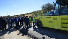 Köy yolu genişletme ve sıcak asfalt çalışmaları başladı