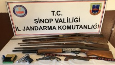 Sinopta kaçak silah operasyonu