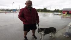 Köpeği ile günlerce otostop çekti