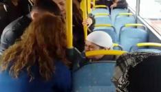 Halk otobüsünde fenalaşan kadın, hastaneye yetiştirildi