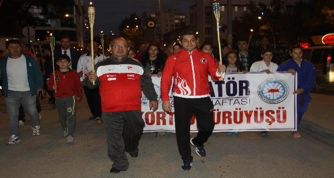Çankırıda Amatör Spor Haftası etkinlikleri başladı