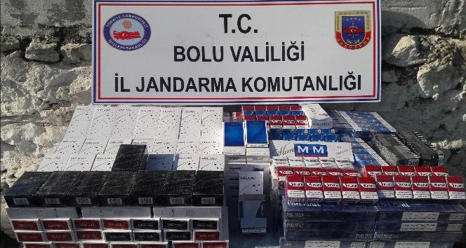 Bolu'da kaçak sigara operasyonu: 6 gözaltı