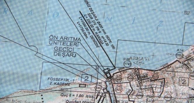 Arhavi derin deniz deşarjına kavuşuyor