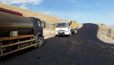 Çıldır Kurtkale - Sabaholdu köyleri arasında asfalt çalışması