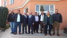 TSO Başkanı Ekicioğlu, OSB Başkanı Süleyman Eraslanı ziyaret etti