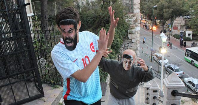 Maskeli Yılmaz Vural Arda Turan'ı sopayla kovaladı