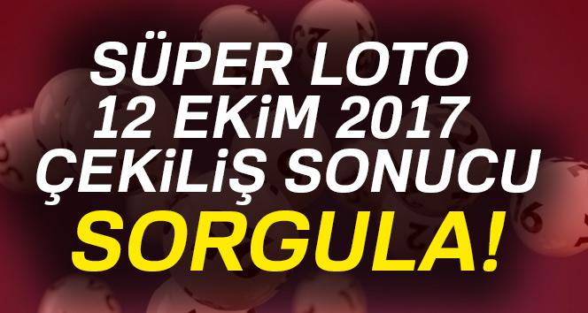Süper Loto 12 Ekim 2017 çekiliş sonucu sorgula