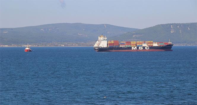 Çanakkalede gemi arızası