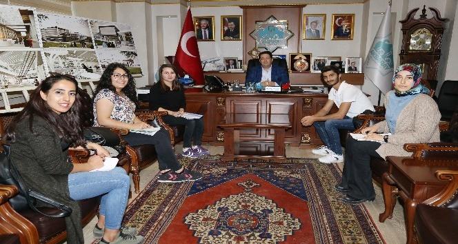 ASÜ öğrencileri Başkan Yazgı ile görüştü