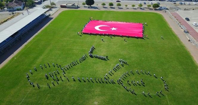 Öğrenciler bisiklet figürü ile Cumhurbaşkanlığı Turunu selamladı
