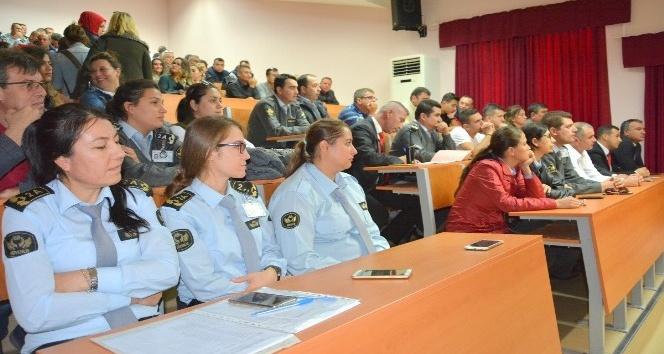 ÇOMÜ özel güvenlik personeline hizmet içi verildi