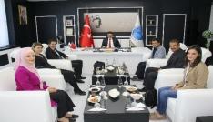 Rektör Karacoşkun TEMA İl Temsilcisi Ahmet Özcanı kabul etti