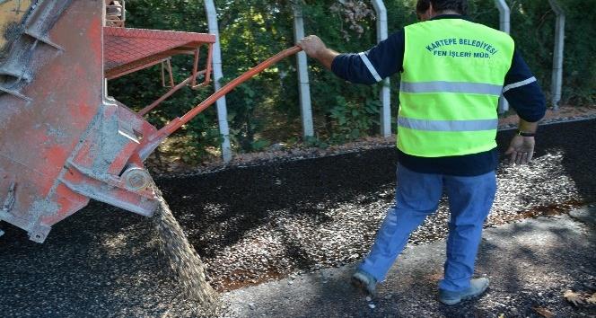 Kartepe'de yol onarım çalışmaları aralıksız devam ediyor