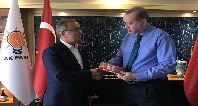 Petek'ten Cumhurbaşkanı Erdoğan'a kitap takdimi