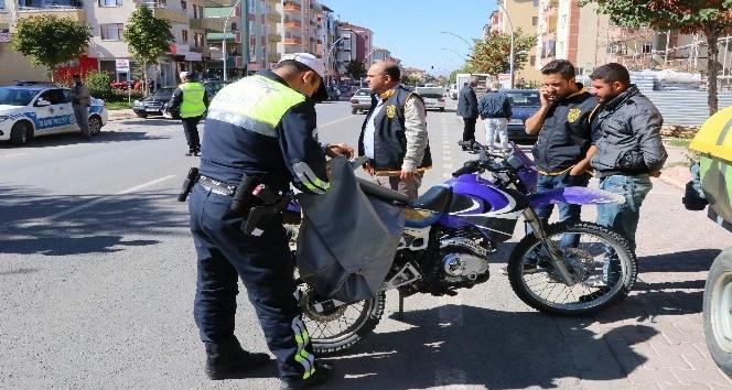 'Son Sürat' uygulaması ile motosikletler denetlendi