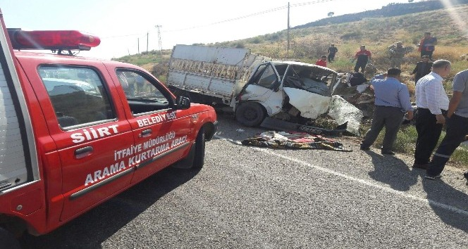 Siirt'te trafik kazası: 2 ölü, 6 yaralı