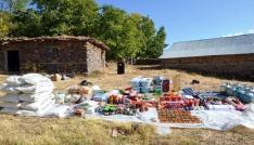 Bingölde PKKya ait yaşam malzemesi ele geçirildi