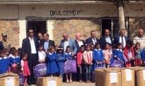 Şenkaya'da 68 Köy İlköğretim Okuluna Kırtasiye Yardımı