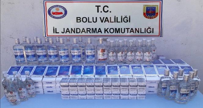 Bolu'da kaçak sigara ve alkol operasyonu