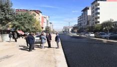 İstasyon Caddesinde geçici asfalt çalışması