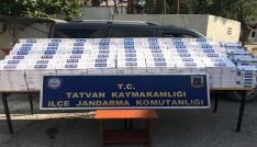 Tatvanda 10 bin paket kaçak sigara ele geçirildi