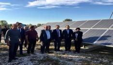 Balabanköye 523 TLye kurulan güneş enerji santrali açıldı