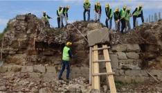 Bigalı Kalesinin restorasyonu devam ediyor