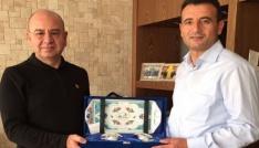 Binbaşı Turgut Çıtaktan Belediye Başkanı Saraoğluna veda