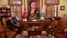 AK Parti Kadın Kolları ve Gençlik Kollarından Başkan Yağcıya ziyaret