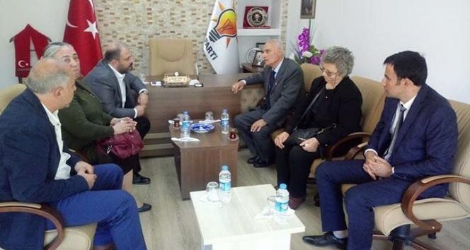 15 Temmuz Şehidi Ekerin ailesinden AK Partiye ziyaret