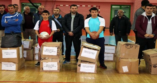 Yozgatta amatör spor kulüplerine malzeme desteği yapıldı