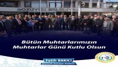 Bozüyük Belediye Başkanı Fatih Bakıcı Muhtarlar Gününü kutladı