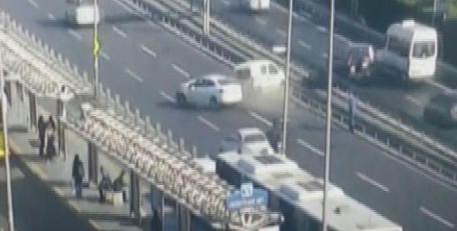 Çağlayan'daki feci kaza anı kamerada