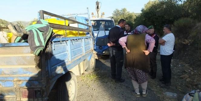 İki kamyonet çarpıştı: 2 yaralı