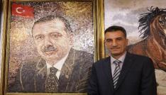Suriyeliler, mozaikle Cumhurbaşkanı Erdoğanın tablosunu yaptı