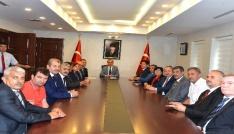 Vali Vekili Mustafa Aydına Muhtarlar Günü ziyareti