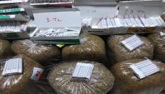 Konyada 102 kilo kaçak tütün ve 4 bin 500 adet sigara ele geçirildi