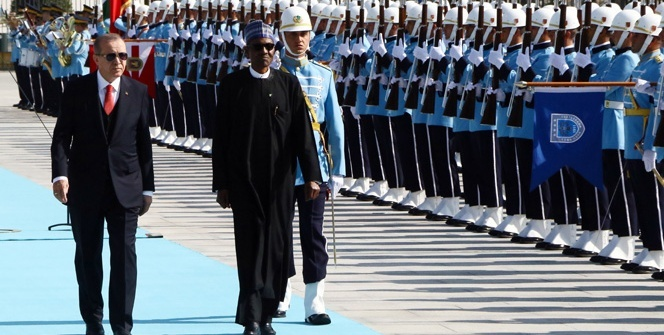 Cumhurbaşkanı Erdoğan, Nijerya Cumhurbaşkanı Buhari'yi resmi törenle karşıladı