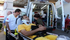 Fethiyede arazöz uçuruma yuvarlandı: 5 yaralı