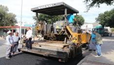 Gümbet Mahallesinde asfalt çalışmaları