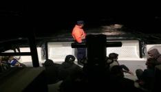 Yunanistana kaçmaya çalışan 24 göçmen yakalandı